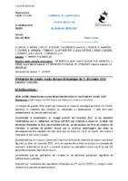 Compte rendu conseil municipal 20/02/2020